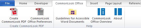 CommonLook Office Ribbon.