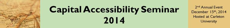 Capital Accessibility Seminar Event Header Image