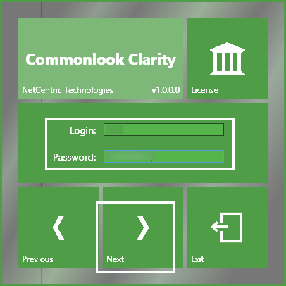 The screen to create the domain login name and password.