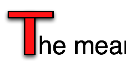 "An image demonstrating the need for Actual Text. In this case vector graphics have been used to form a letter ""T""."