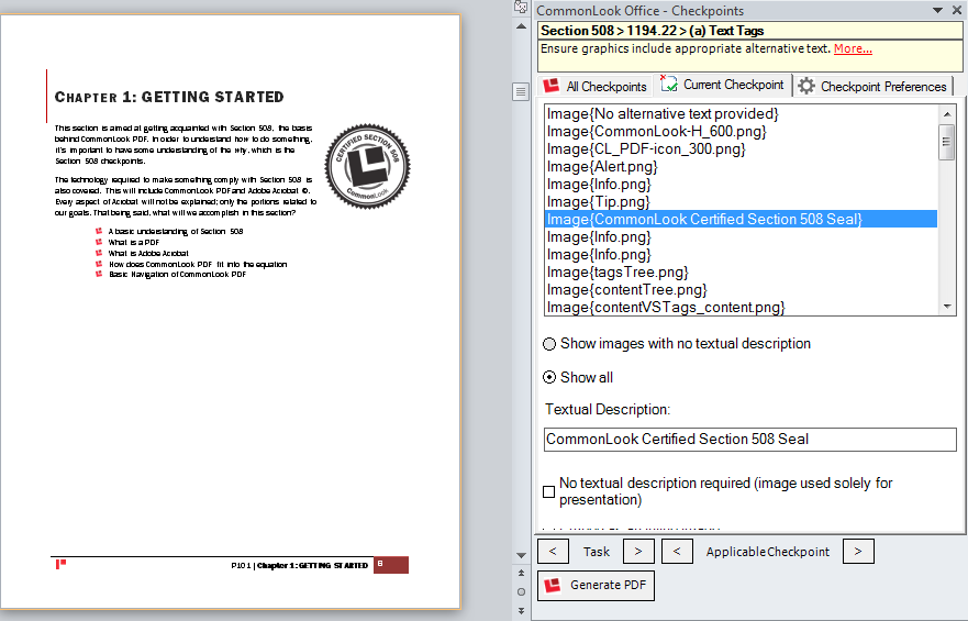 Picture showing a word document with a picture, a flow chart, and a decorative watermark.