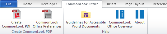 CommonLook Office Ribbon.