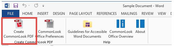 CommonLook Office Toolbar.