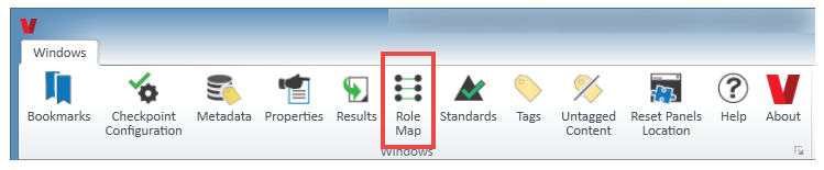 The Role Map button on the Windows tab of the CommonLook PDF Validator.