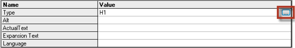 The convert tag properties dialog with the convert dropdown highlighted.