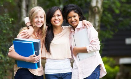 Photo of three students