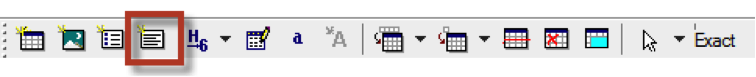 Toolbar with the new paragraph button highlighted.