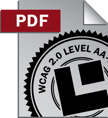 PDF document icon with WCAG 2.0 Level AA seal