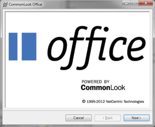 CommonLook Office splash screen.