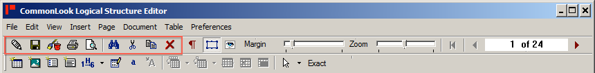 Toolbar with editing tools highlighted.