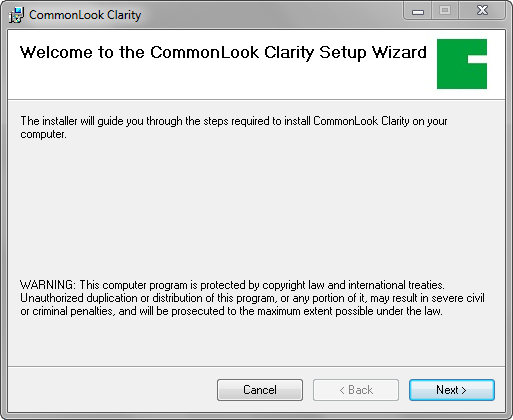 Welcome to the setup wizard dialog.